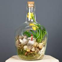 Glasflasche Dekogefäß mit Korken Ø19cm H30cm