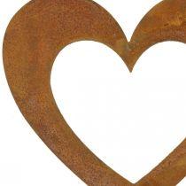 Herz Rost Gartendeko Metallherz 10cm 12St