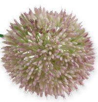 Künstlicher Allium Seidenblume Grün, Rosa Zierlauch als Kunstblume