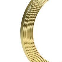 Aluminium Flachdraht Gold 5mm x 1mm 2,5m