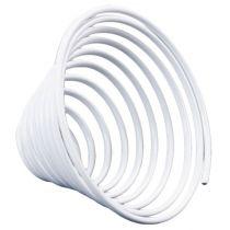 Aluminium Drahtschnecke Metallschnecke Weiß 2mm 120cm 2St