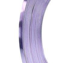 Aluminium Flachdraht Lavendel 5mm 10m