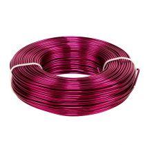 Aluminiumdraht Ø2mm 500g 60m Pink