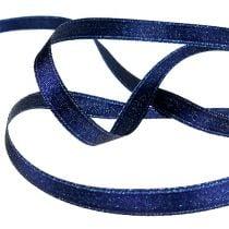 Satinband mit Glimmer Blau 10mm 20m