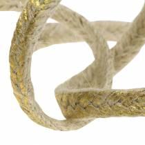 Kordel Breit Jute Gold 10mm 4m