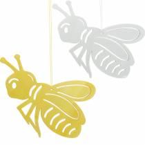 Holzfigur Biene, Frühlingsdeko, Honigbiene zum Aufhängen, Deko-Insekt 6St