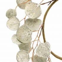 Blätterkranz künstlich Champagner Runde Blätter Ø55cm