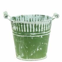 Blecheimer Grün weißgewaschen Ø19cm H17cm 1St