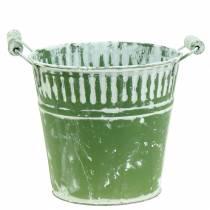 Blecheimer Grün weißgewaschen Ø22cm H21cm 1St
