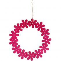 Blütenkranz Holz in Pink Ø35cm 1St