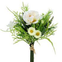 Blütenstrauß mit Bellis Weiß 20cm