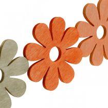 Blumen zum Streuen Orange, Aprikose, Braun Streudeko Holz 72St