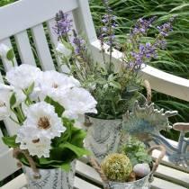 Blumendeko Lavendel im Topf Kunstpflanzen