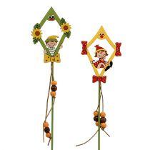 Blumenstecker Drachen mit Kind 8cm L30cm 12St