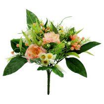 Blumenstrauß aprikot Ø17cm L27cm