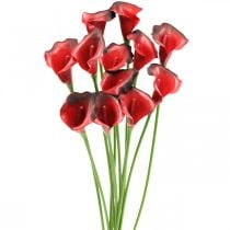 Calla Rot bordeaux Kunstblumen im Bund 57cm 12St