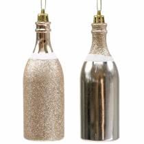 Champagnerflasche zum Hängen Hellgold 10St