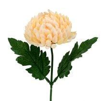 Chrysantheme Pfirsich künstlich Ø7cm L18cm