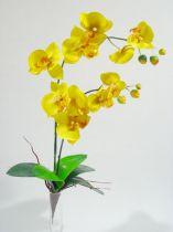 Orchidee x2 60cm gelb