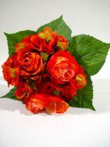 Rosen-/Hortensienstrauß 26cm flame