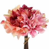 Dahlie Bund Blumenstrauß 28cm rosa, creme 6St