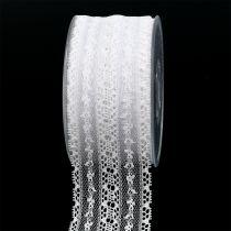 Dekoband Spitze 55mm 20m Weiß