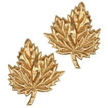 Deko-Blätter aus Seide 5cm Gold 60St