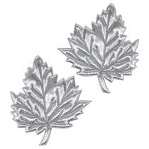 Deko-Blätter aus Seide 5cm Silber 60St