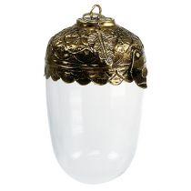 Deko-Eichel Glas zum Hängen Altgold Ø7,5cm H13cm
