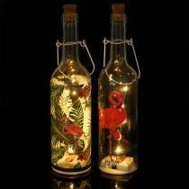 Deko-Flasche LED Flamingo 37,5cm Warmweiß 2St