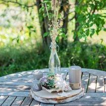Deko-Flasche, Bügelflasche, Glasvase zum Befüllen, Kerzenhalter