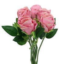 Deko Rose Ø6cm Rosa L30cm 6St