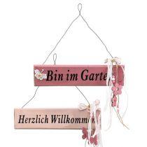 """Holzschild """"Bin im Garten"""