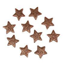 Deko Sterne Mini 2,5cm Kupfer, Glimmer 100St