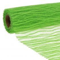 Deko Tischband Stoff Apfelgrün 26cm x 300cm