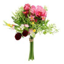 Deko-Blumenstrauß rosa 20cm