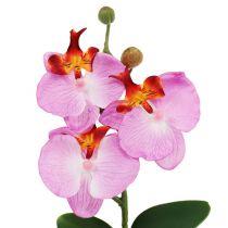 Deko Orchidee im Topf Rosa H29cm