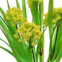 Deko Gras mit Blüten Gelb, Grün L30cm