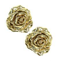 Deko-Rose Ø12cm gold, glänzend 4St