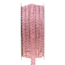 Dekoband Samtoptik Rosa 10mm 20m