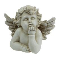 Dekofigur Engel träumend Creme 20cm
