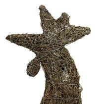 Dekofigur Hahn aus Rebe natur 45cm