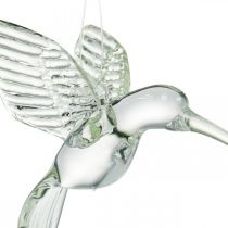 Dekohänger Kolibri, Glasdeko, Paradiesvogel, Glasanhänger, Deko Vogel
