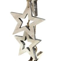 Dekohänger Stern 50cm weißgewaschen 1St