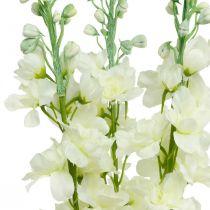 Delphinium Weiß Künstlicher Rittersporn Seidenblumen Kunstblumen 3St