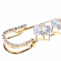 Sicherheitsnadel Schmucknadel Diamant Gold 2St