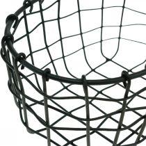 Deko Korb, Mini-Körbchen, Drahtkorb oval L12,5cm H6,5cm 2St