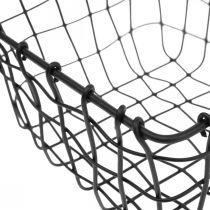 Aufbewahrungskorb, Korb zum Bepflanzen, Mini-Drahtkorb quadratisch 12×12cm 2St
