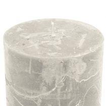 Durchgefärbte Kerzen Grau 60x80mm 4St