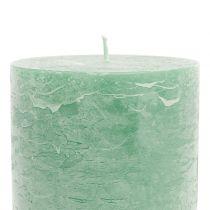 Durchgefärbte Kerzen Hellgrün 85x120mm 2St